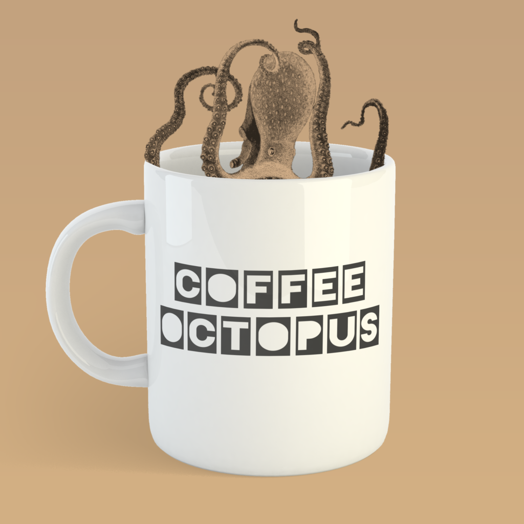 Coffee Octopus Podcast - Cover Concept