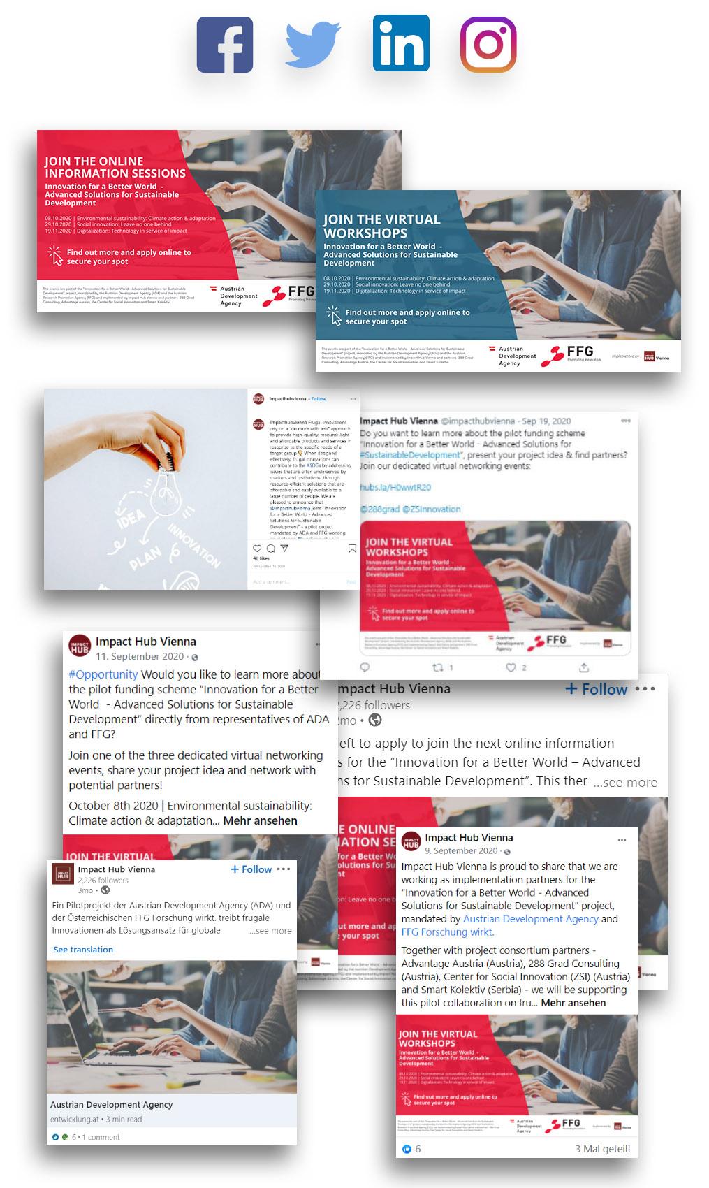 Innovate for a Better World Social Media Designs